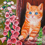 peinture chat digitales